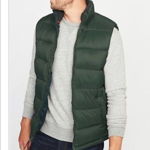 Old Navy L Tall Men's quilted puffer vest coat